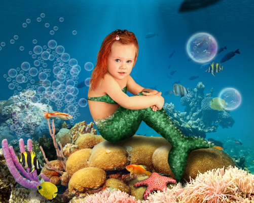 Mermaid under the sea