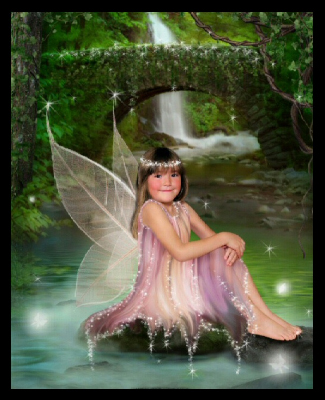 Fairy on lilypad