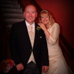 Bride and Groom at The Plas Hafod, Mold