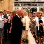 Confetti shot at The Plas Hafod Hotel Mold